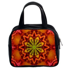 Florescent Abstract Classic Handbag (two Sides)
