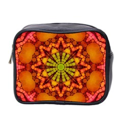 Florescent Abstract Mini Travel Toiletry Bag (two Sides)