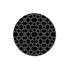 Geometric Abstract Pattern Futuristic Design  Drink Coasters 4 Pack (round) by dflcprints