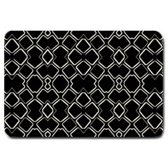 Geometric Abstract Pattern Futuristic Design  Large Door Mat by dflcprints