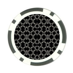 Geometric Abstract Pattern Futuristic Design  Poker Chip (10 Pack) by dflcprints