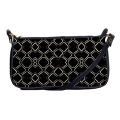 Geometric Abstract Pattern Futuristic Design  Evening Bag by dflcprints