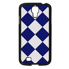 Harlequin Diamond Argyle Sports Team Colors Navy Blue Silver Samsung Galaxy S4 I9500/ I9505 Case (black) by CrypticFragmentsColors