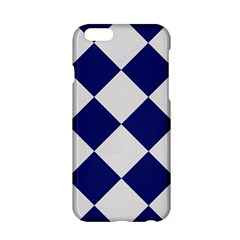 Harlequin Diamond Argyle Sports Team Colors Navy Blue Silver Apple Iphone 6 Hardshell Case