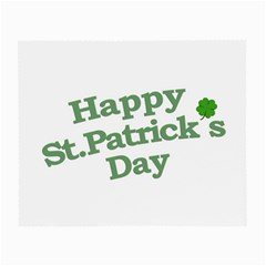 Happy St Patricks Text With Clover Graphic Glasses Cloth (small) by dflcprints