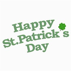 Happy St Patricks Text With Clover Graphic Canvas 16  X 16  (unframed) by dflcprints