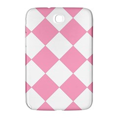 Harlequin Diamond Pattern Pink White Samsung Galaxy Note 8 0 N5100 Hardshell Case  by CrypticFragmentsColors