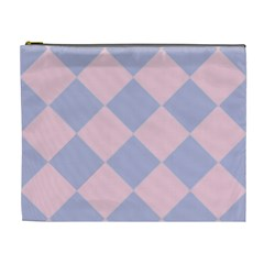 Harlequin Diamond Argyle Pastel Pink Blue Cosmetic Bag (xl) by CrypticFragmentsColors