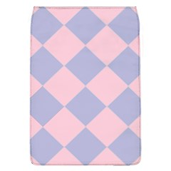 Harlequin Diamond Argyle Pastel Pink Blue Removable Flap Cover (large) by CrypticFragmentsColors