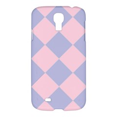 Harlequin Diamond Argyle Pastel Pink Blue Samsung Galaxy S4 I9500/i9505 Hardshell Case by CrypticFragmentsColors