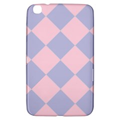 Harlequin Diamond Argyle Pastel Pink Blue Samsung Galaxy Tab 3 (8 ) T3100 Hardshell Case  by CrypticFragmentsColors