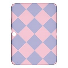Harlequin Diamond Argyle Pastel Pink Blue Samsung Galaxy Tab 3 (10 1 ) P5200 Hardshell Case  by CrypticFragmentsColors