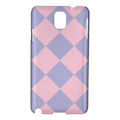 Harlequin Diamond Argyle Pastel Pink Blue Samsung Galaxy Note 3 N9005 Hardshell Case by CrypticFragmentsColors