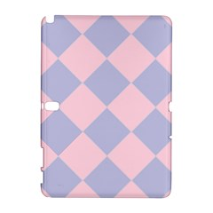 Harlequin Diamond Argyle Pastel Pink Blue Samsung Galaxy Note 10 1 (p600) Hardshell Case by CrypticFragmentsColors