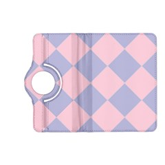Harlequin Diamond Argyle Pastel Pink Blue Kindle Fire Hd (2013) Flip 360 Case by CrypticFragmentsColors