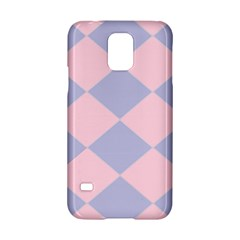 Harlequin Diamond Argyle Pastel Pink Blue Samsung Galaxy S5 Hardshell Case  by CrypticFragmentsColors