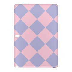 Harlequin Diamond Argyle Pastel Pink Blue Samsung Galaxy Tab Pro 10 1 Hardshell Case by CrypticFragmentsColors