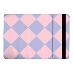 Harlequin Diamond Argyle Pastel Pink Blue Samsung Galaxy Tab Pro 10 1  Flip Case by CrypticFragmentsColors