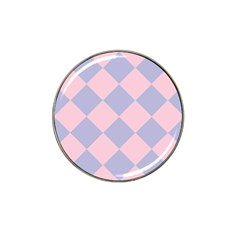 Harlequin Diamond Argyle Pastel Pink Blue Golf Ball Marker 10 Pack (for Hat Clip) by CrypticFragmentsColors