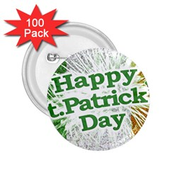 Happy St. Patricks Day Grunge Style Design 2.25  Button (100 pack) by dflcprints