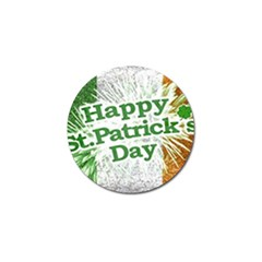 Happy St  Patricks Day Grunge Style Design Golf Ball Marker 4 Pack by dflcprints