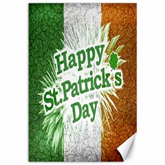 Happy St  Patricks Day Grunge Style Design Canvas 12  X 18  (unframed) by dflcprints