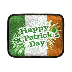 Happy St  Patricks Day Grunge Style Design Netbook Sleeve (small) by dflcprints