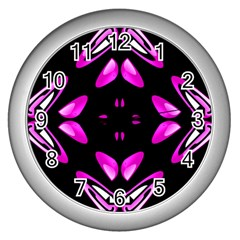 Abstract Pain Frustration Wall Clock (silver) by FunWithFibro