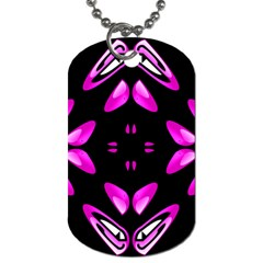 Abstract Pain Frustration Dog Tag (one Sided) by FunWithFibro