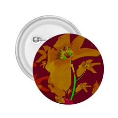 Tropical Hawaiian Style Lilies Collage 2 25  Button by dflcprints