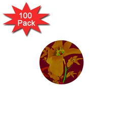 Tropical Hawaiian Style Lilies Collage 1  Mini Button (100 Pack) by dflcprints