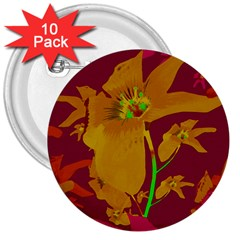 Tropical Hawaiian Style Lilies Collage 3  Button (10 pack) by dflcprints