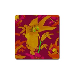 Tropical Hawaiian Style Lilies Collage Magnet (square) by dflcprints