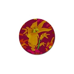 Tropical Hawaiian Style Lilies Collage Golf Ball Marker 10 Pack by dflcprints