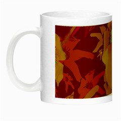 Tropical Hawaiian Style Lilies Collage Glow In The Dark Mug by dflcprints