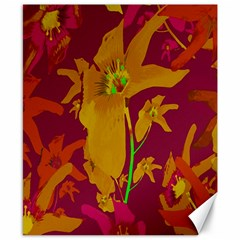 Tropical Hawaiian Style Lilies Collage Canvas 8  X 10  (unframed) by dflcprints