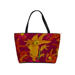 Tropical Hawaiian Style Lilies Collage Large Shoulder Bag by dflcprints