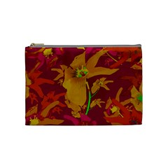 Tropical Hawaiian Style Lilies Collage Cosmetic Bag (medium) by dflcprints