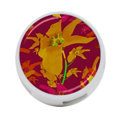 Tropical Hawaiian Style Lilies Collage 4 Port Usb Hub (one Side) by dflcprints