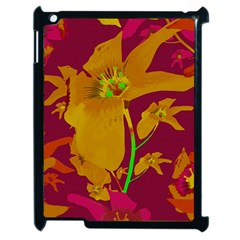 Tropical Hawaiian Style Lilies Collage Apple Ipad 2 Case (black) by dflcprints