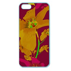 Tropical Hawaiian Style Lilies Collage Apple Seamless Iphone 5 Case (color) by dflcprints