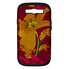 Tropical Hawaiian Style Lilies Collage Samsung Galaxy S Iii Hardshell Case (pc+silicone) by dflcprints