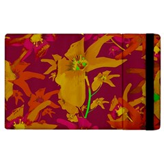 Tropical Hawaiian Style Lilies Collage Apple Ipad 3/4 Flip Case by dflcprints