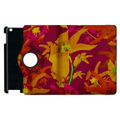 Tropical Hawaiian Style Lilies Collage Apple Ipad 3/4 Flip 360 Case by dflcprints