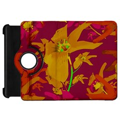 Tropical Hawaiian Style Lilies Collage Kindle Fire Hd Flip 360 Case by dflcprints