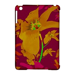 Tropical Hawaiian Style Lilies Collage Apple iPad Mini Hardshell Case (Compatible with Smart Cover) by dflcprints