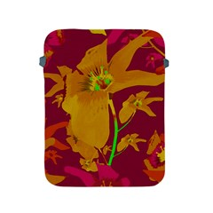 Tropical Hawaiian Style Lilies Collage Apple Ipad Protective Sleeve by dflcprints