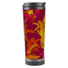 Tropical Hawaiian Style Lilies Collage Travel Tumbler by dflcprints