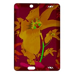 Tropical Hawaiian Style Lilies Collage Kindle Fire Hd (2013) Hardshell Case by dflcprints