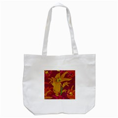 Tropical Hawaiian Style Lilies Collage Tote Bag (white) by dflcprints